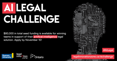 Ryerson Legal Innovation Zone announces finalists for $80K AI Challenge