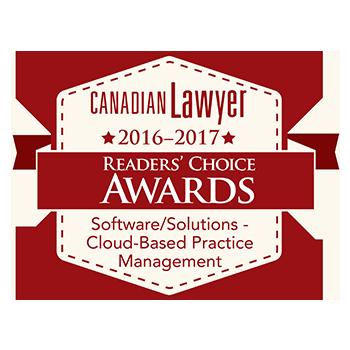 Cloud Desktop wins Top Cloud Software in 2016-2017 Canadian Lawyer Rankings
